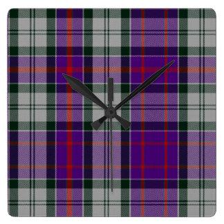 Culloden Dress Tartan Square Wall Clock