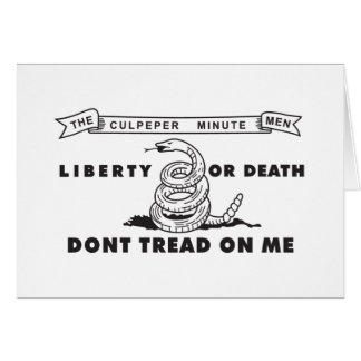 Culpeper Minute Men Flag - Dont Tread on Me Note Card