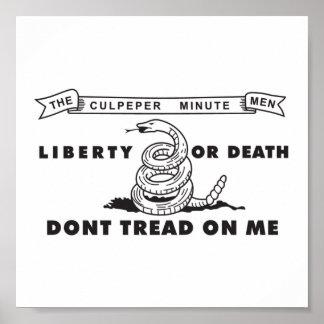 Culpeper Minute Men Flag Poster