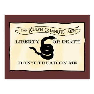 Culpeper Minutemen Flag Postcard