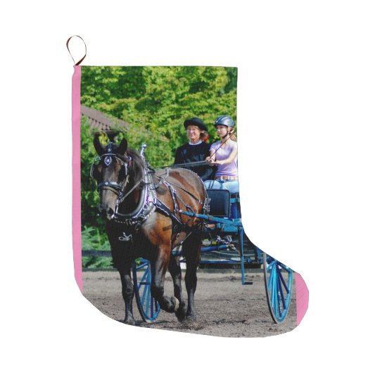 Culpeper, Virginia Draught   Horse and Mule Show Large Christmas Stocking