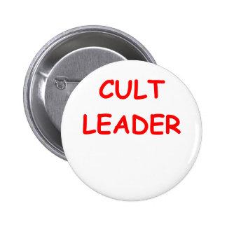 cult leader 2 inch round button