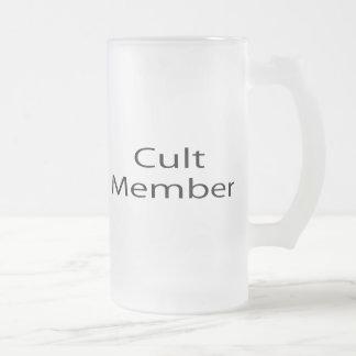 Cult Member 16 Oz Frosted Glass Beer Mug