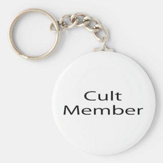 Cult Member Basic Round Button Keychain