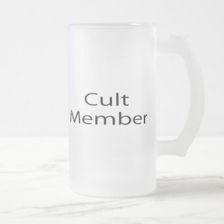Cult Member Frosted Glass Mug