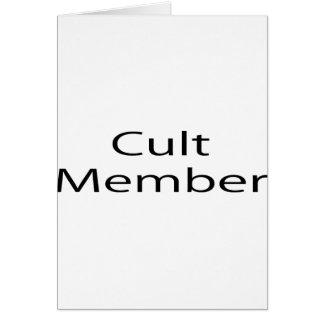 Cult Member Greeting Card