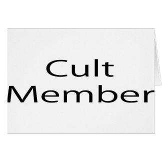 Cult Member Greeting Cards