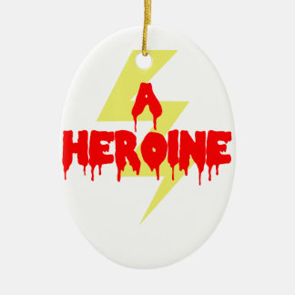 Cult Movie Heroine Ceramic Oval Ornament
