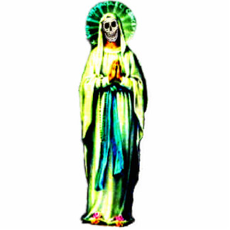Cult Of Santa Muerte Standing Photo Sculpture