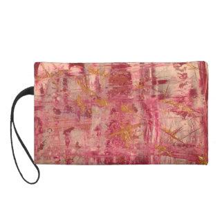 Cultural bag pink gold wristlet purse