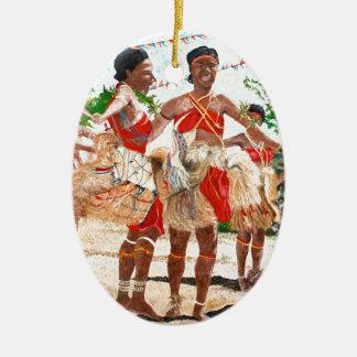 Cultural Dance in Papua New Guinea Ceramic Ornament