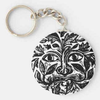 culture basic round button keychain