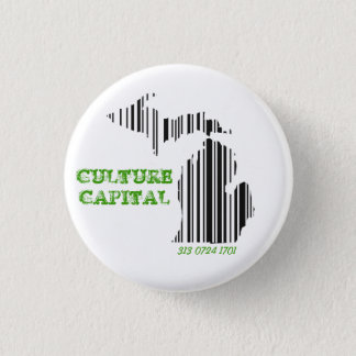 Culture capital 1 inch round button