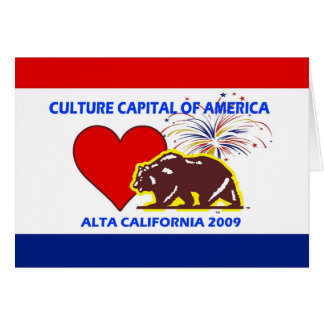 Culture Capital of America 2009 Altal California Card