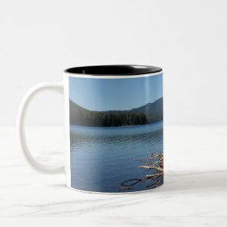 Cultus Lake, Oregon Two-Tone Coffee Mug