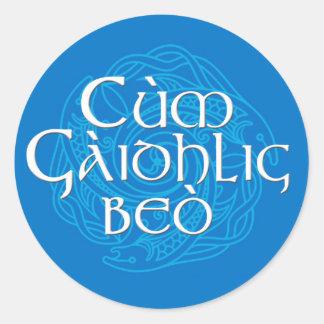 Cùm Gàidhlig Beò! Round Sticker