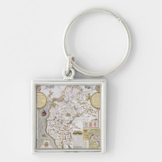 Cumberland and the Ancient City of Carlile Keychain