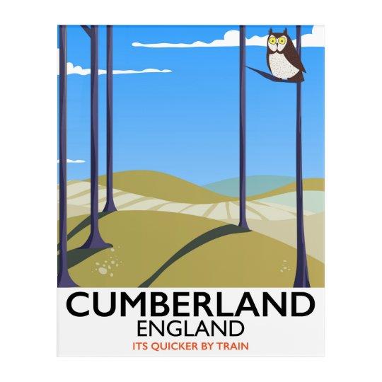 Cumberland, England vintage style travel poster. Acrylic Print
