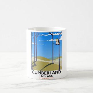 Cumberland, England vintage style travel poster. Coffee Mug