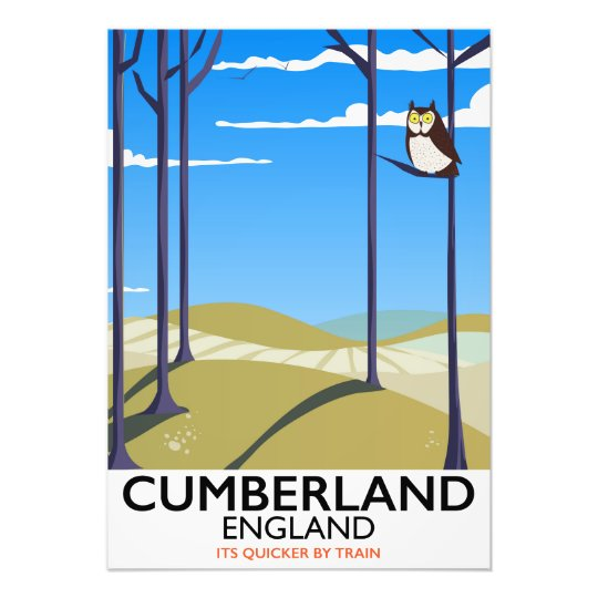 Cumberland, England vintage style travel poster. Photo Print