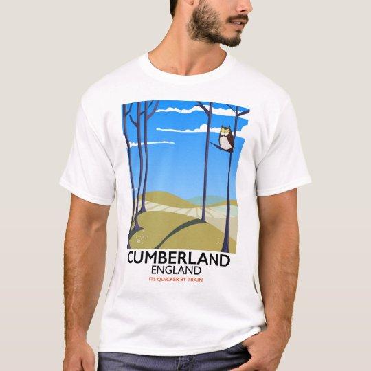 Cumberland, England vintage style travel poster. T-Shirt