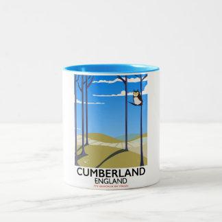 Cumberland, England vintage style travel poster. Two-Tone Coffee Mug