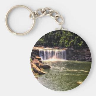 Cumberland Falls Basic Round Button Keychain