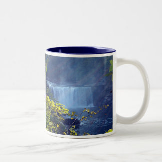 CumberLand Falls w/yellow leaves Two-Tone Coffee Mug