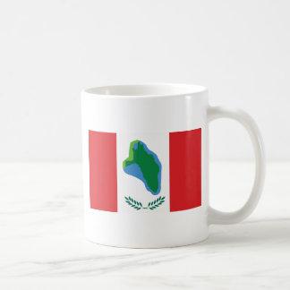 Cumberland Head, United States flag Coffee Mug