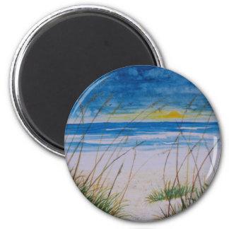 cumberland island georgia beach painting magnet