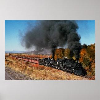 Cumbres and Toltec Railroad, No. 487 and No. 484, Poster