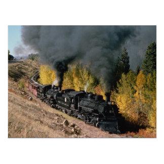 Cumbres and Toltec Railroad, No. 487 and No. 484m, Postcard