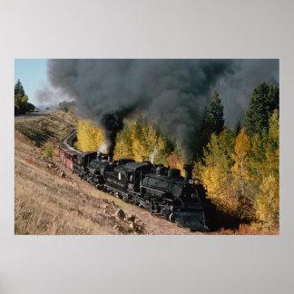 Cumbres and Toltec Railroad, No. 487 and No. 484m, Poster