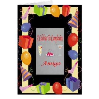 Cumpleaños Amigo Card
