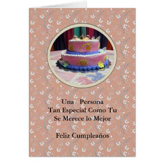 Cumpleaños para una persona muy especial card