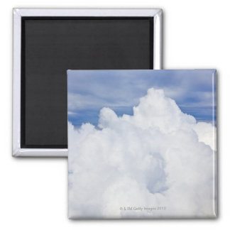 Cumulus clouds viewed from high angle. magnet