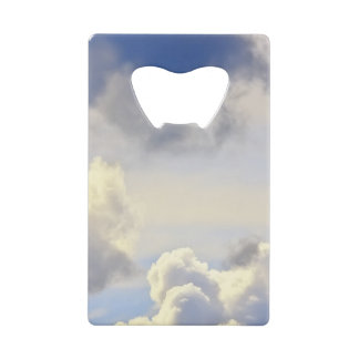 Cumulus storm. credit card bottle opener
