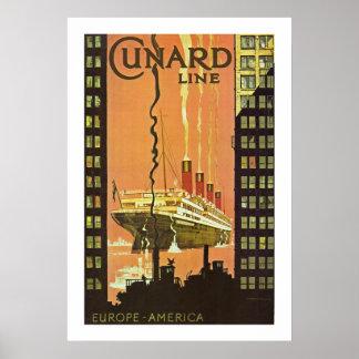 Cunard Europe-America Poster