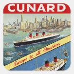 Cunard Europe to all America Sticker