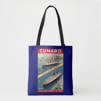 Cunard Europe to all America Tote Bag