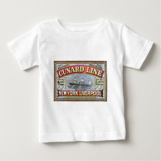 Cunard Line New York Liverpool Poster Baby T-Shirt