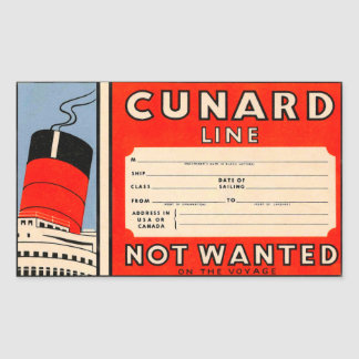 CUNARD Line Sticker