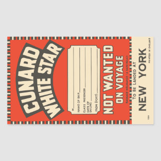 Cunard White Star (to New York) Sticker