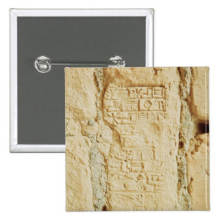 Cuneiform script on a palace wall 2 inch square button