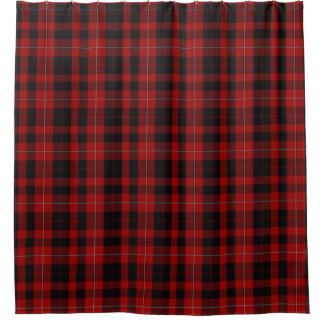 Cunningham Black and Red Tartan Shower Curtain