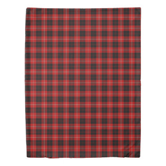 Cunningham Clan Bright Red and Black Tartan Duvet Cover