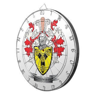 Cunningham Family Crest Coat of Arms Dartboard