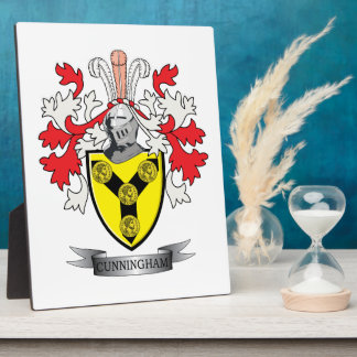 Cunningham Family Crest Coat of Arms Plaque
