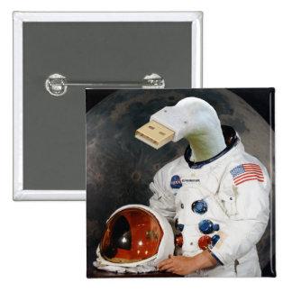 Cunningulen the Astronaut 2 Inch Square Button