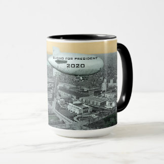 CUOMO FOR PRESIDENT COMIC BLIMP OVER WASHINGTON DC MUG